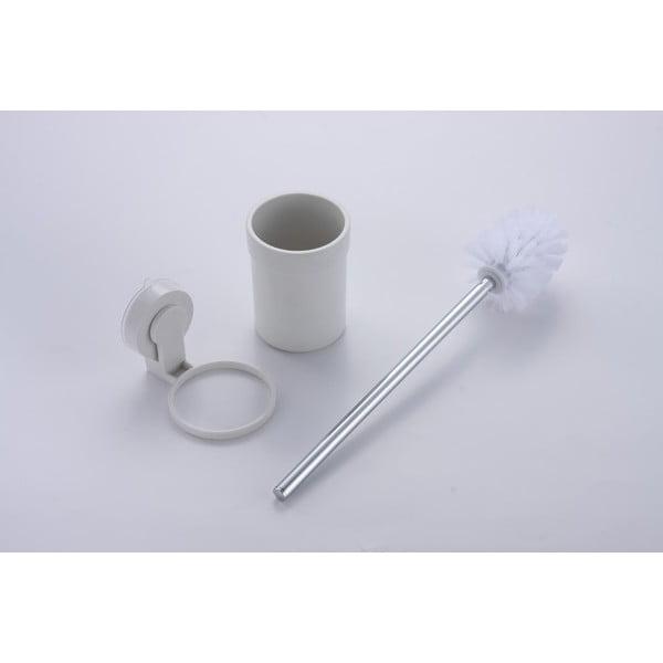 Naścienna szczotka toaletowa z przyssawką ZOSO Brush White
