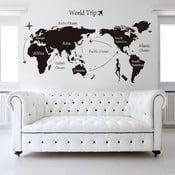 Naklejka ścienna World Trip, 90x60 cm