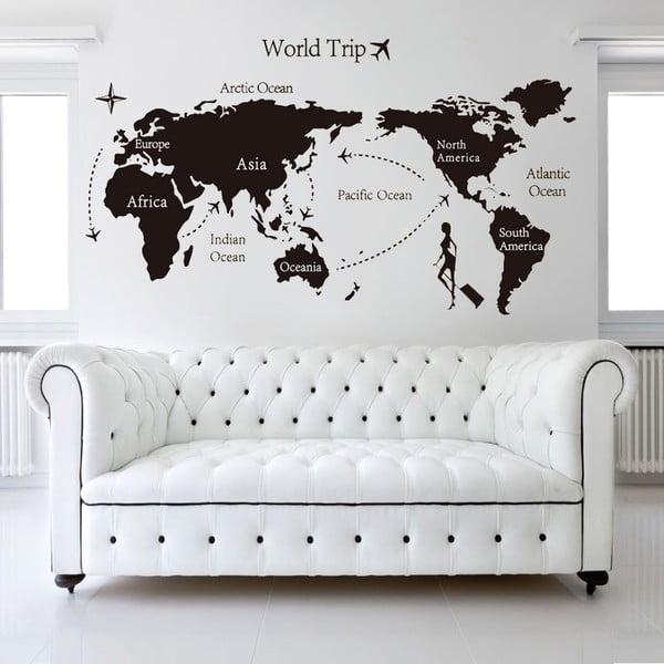 Naklejka ścienna World Trip, 60x90 cm