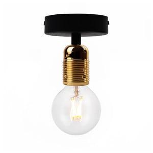 Czarna lampa sufitowa z oprawą żarówki w złotym kolorze Bulb Attack Uno Basic