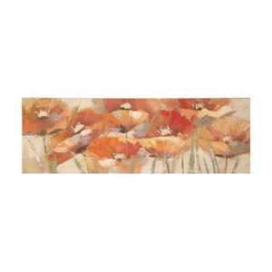 Obraz ręcznie malowany Mauro Ferretti Poppies, 50x150cm
