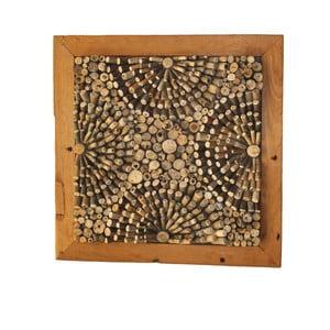 Dekoracja ścienna z drewna tekowego HSM Collection 3D