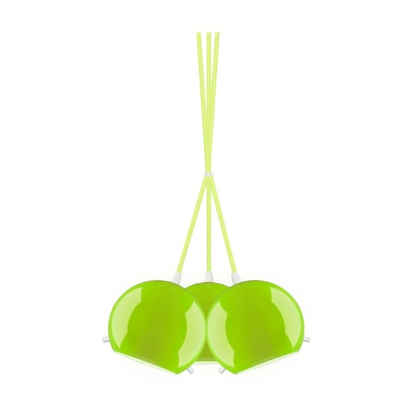 Lampa potrójna MYOO Elementary, zielona błyszcząca/zielona/biała