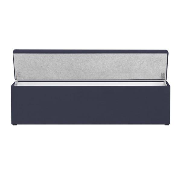 Ciemnoniebieska ławka tapicerowana ze schowkiem Windsor & Co Sofas Nova, 160x47 cm