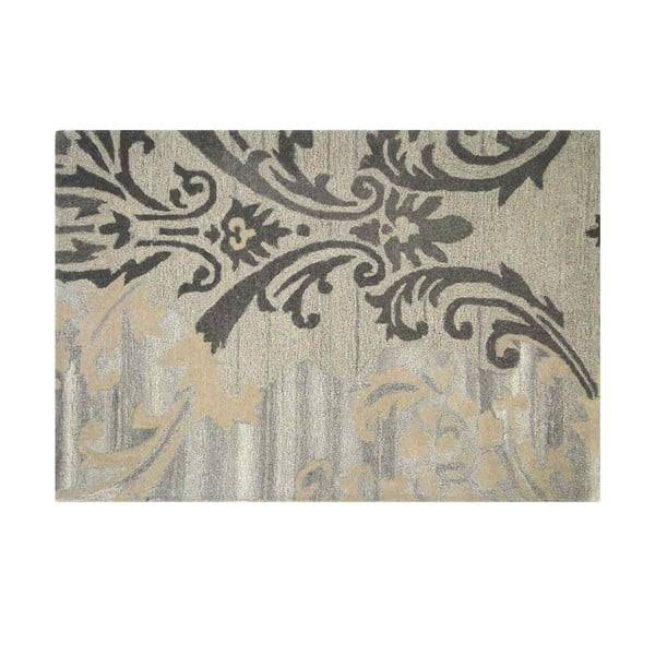 Wełniany dywan Gold Damask, 121x182 cm