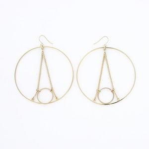 Kolczyki Eiffel Hoop Gold