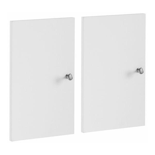 Zestaw 2 białych dodatkowych drzwi do regału Støraa Versaille