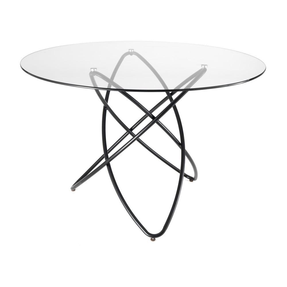 Stół z blatem ze szkła hartowanego Tomasucci Hula Hoop, ⌀120cm