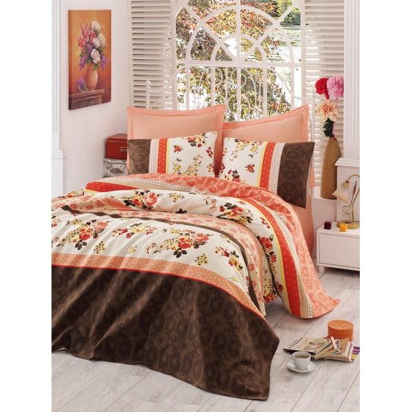 Zestaw:  prześcieradło i poszewka na poduszkę Love Colors Anna, 160 x 240 cm