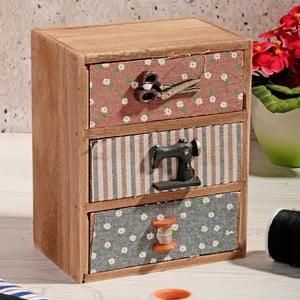 Drewniane pudełko na nici Drawers