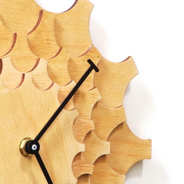 Zegar drewniany Cogwheel, 29 cm