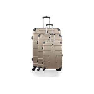 Zestaw 3 beżowych walizek na kółkach Blue Star Ottawa