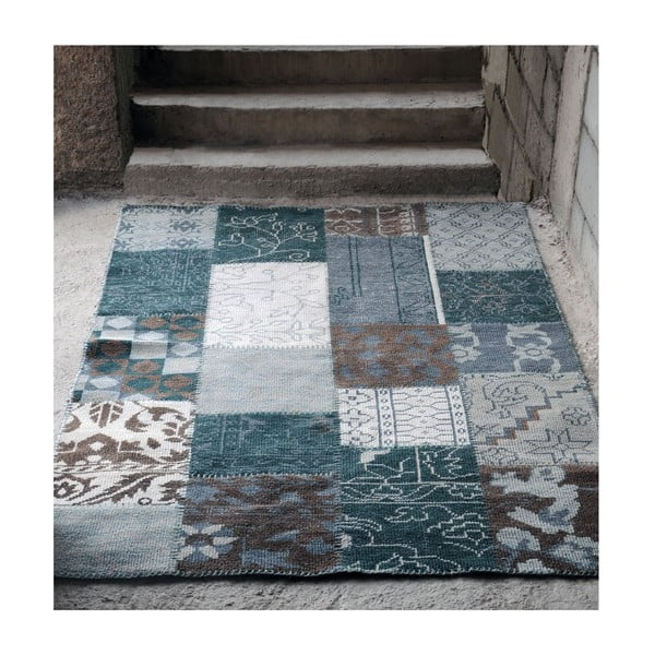 Wełniany dywan Amalfi Grey/Brown, 160x230 cm