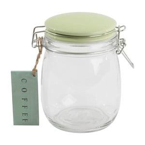 Szklany pojemnik z zieloną pokrywką Sugar, 750 ml