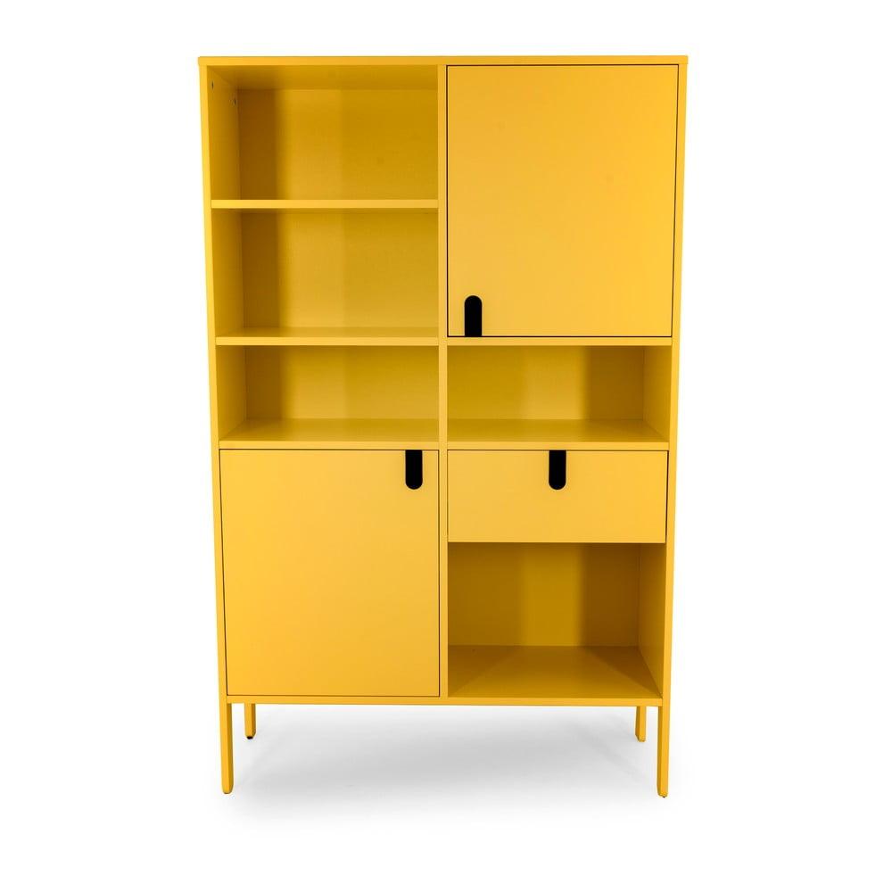 Żółta szafka Tenzo Uno, wys. 176 cm