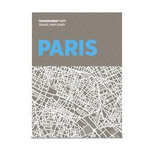 Mapa Paryża z przezroczystymi kartkami na notatki Transparent City