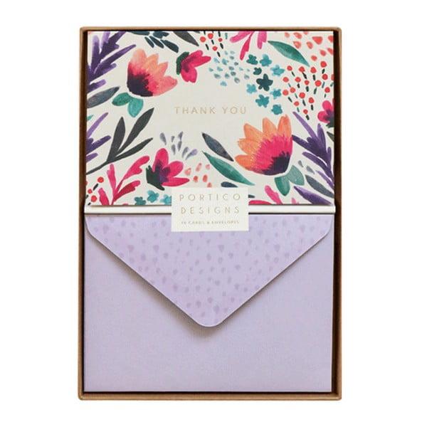 Zestaw 10 kart okolicznościowych Portico Designs FOIL Tulip Thank You