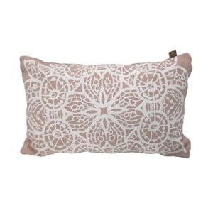 Poduszka Overseas Lace Blush/White, 30x50 cm