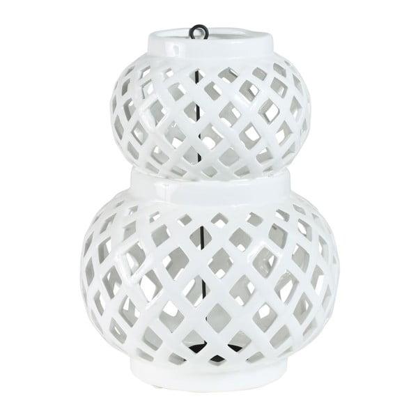 Lampion Crois White, 20,5x20,5x29,5 cm