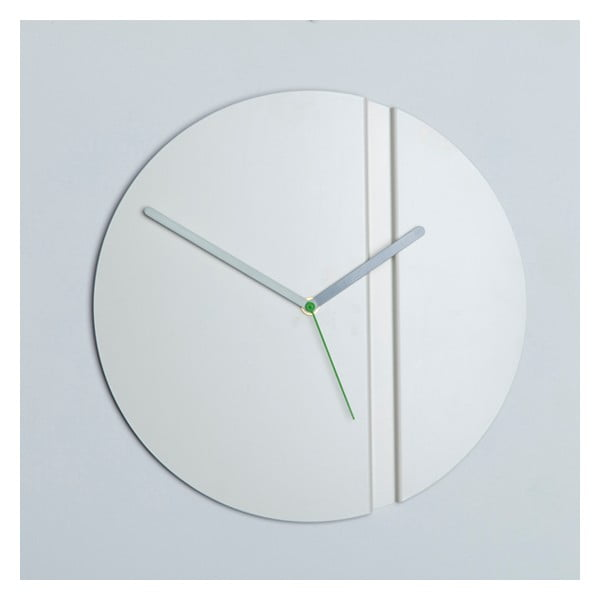 Zegar ścienny Pleat Fold, biały