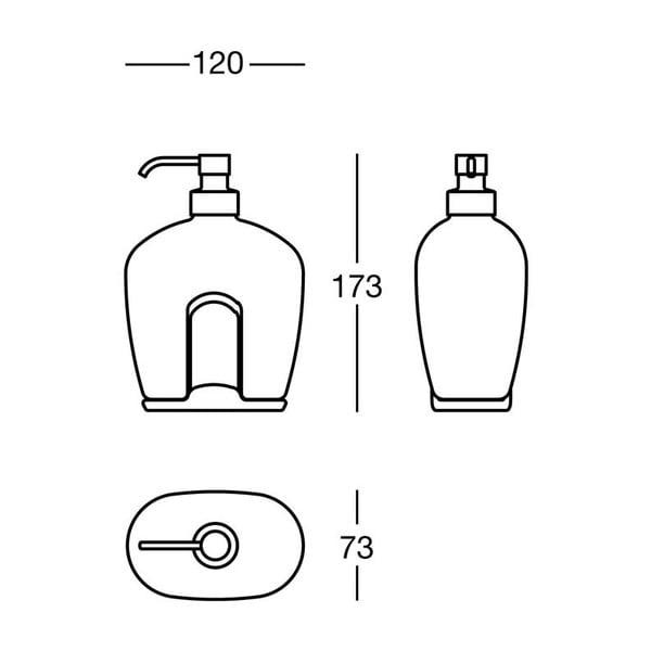 Dozownik mydła White Soap, 12x17,3x7,3 cm