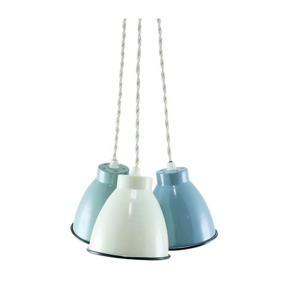 Trio lamp sufitowych, zielona/niebieska/kremowa
