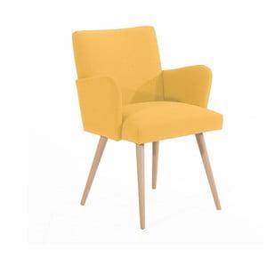 Żółty fotel Max Winzer Albert