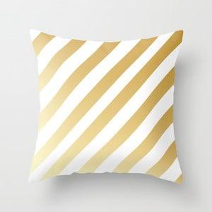 Poduszka Gold Stripes, 45x45 cm