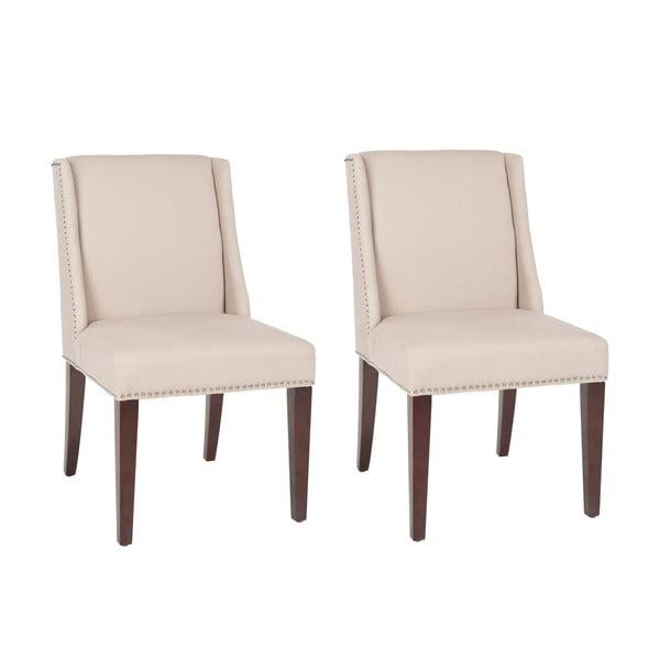 Zestaw 2 krzeseł Humphry Cream