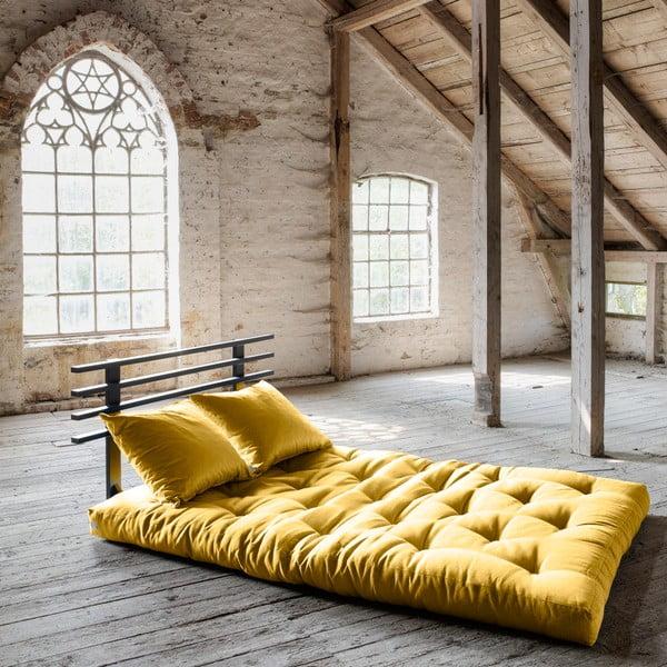 Sofa rozkładana Karup Shin Sano Black/Amarillo