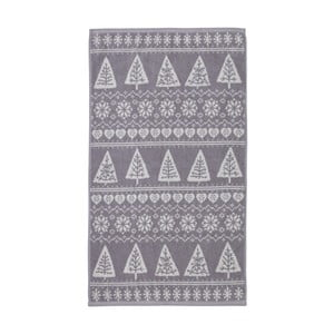 Szary ręcznik Nordic Winter, 90x140 cm