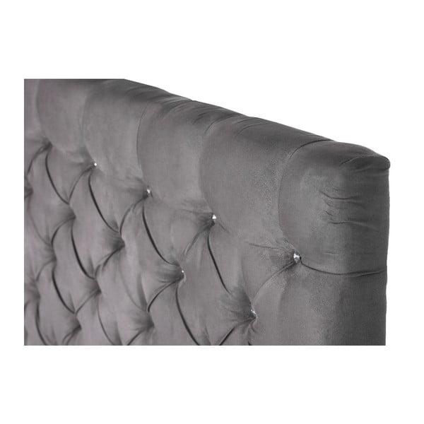 Szare łóżko z materacem Stella Cadente Syrius Forme 140x200 cm