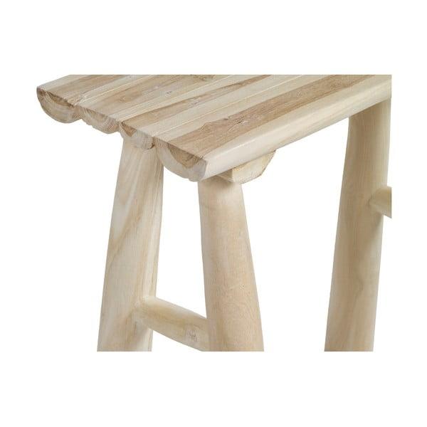 Stołek z drewna tekowego Santiago Pons Capri