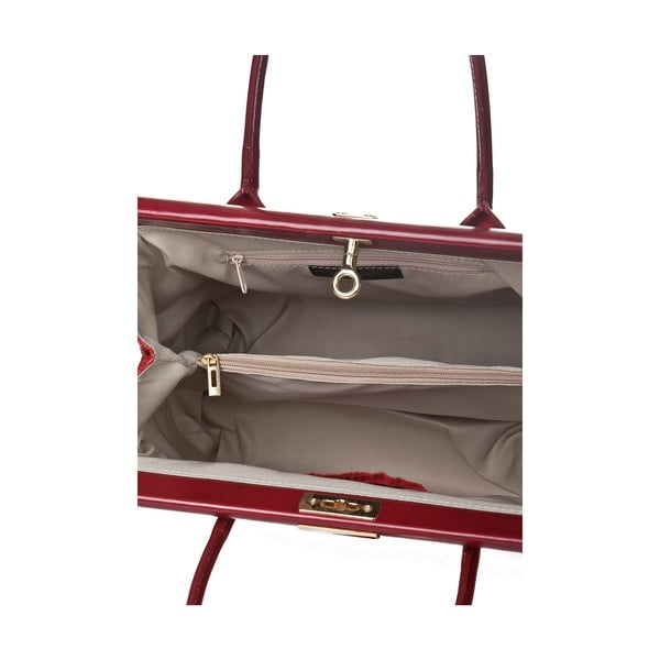 Skórzana torebka Italia 825 Rosso