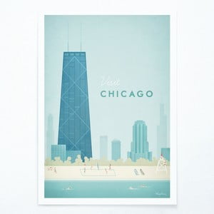 Plakat Travelposter Chicago, A2
