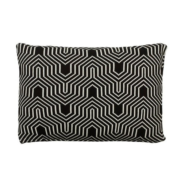 Poduszka Graphic Knit Black, 40x60 cm