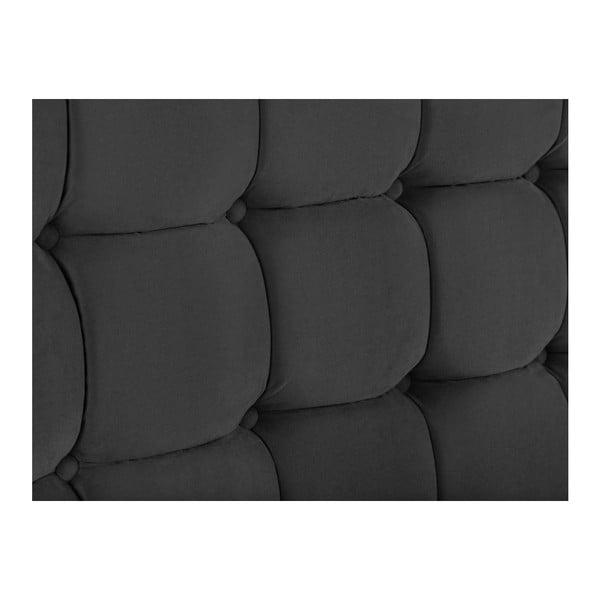 Ciemnoszary zagłówek łóżka Kooko Home Hasso, 120x200 cm