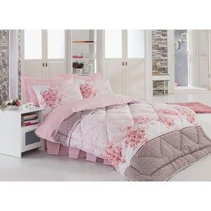 Narzuta, poszewki na poduszkę i ozdobna falbana wokół łóżka Sonya, 195x215 cm