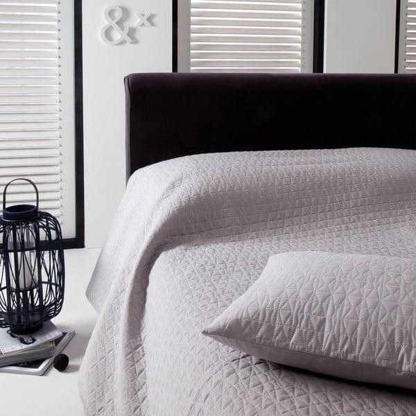 Narzuta na łóżko Shape Silver, 220x270 cm