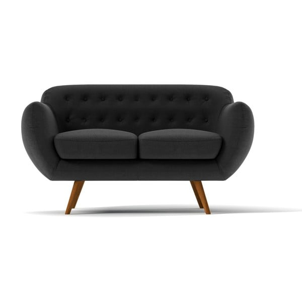 Dwuosobowa sofa Indigo, ciemnoszara