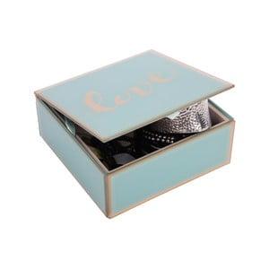 Szklana szkatułka na biżuterię Love