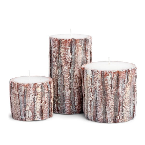 Zestaw 3 świeczek Candle Oak