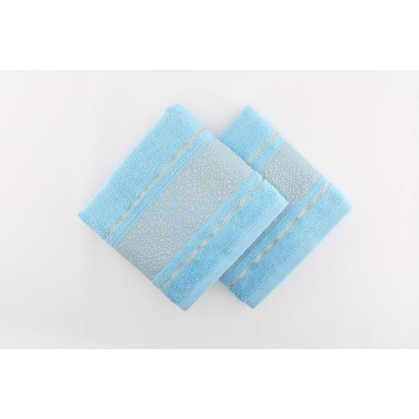 Zestaw 2 ręczników Giselle Blue, 70x140 cm