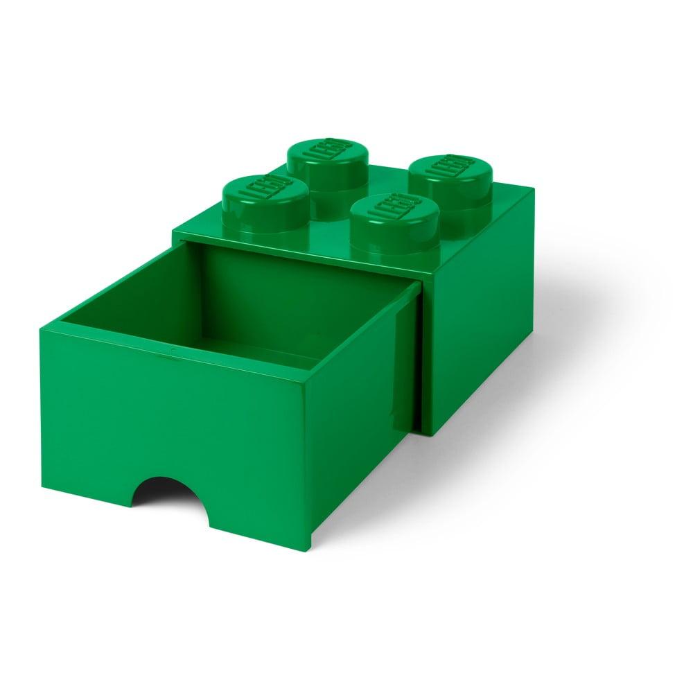 Zielony pojemnik z szufladą LEGO®