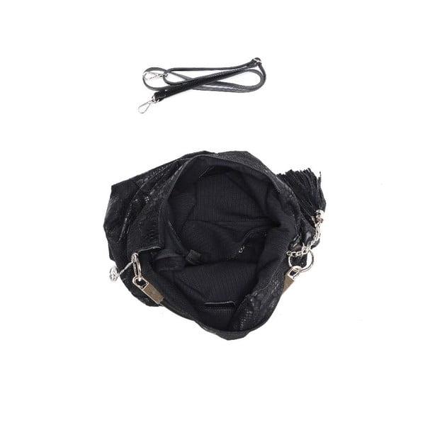 Skórzana torebka Carla Ferreri 889 Nero