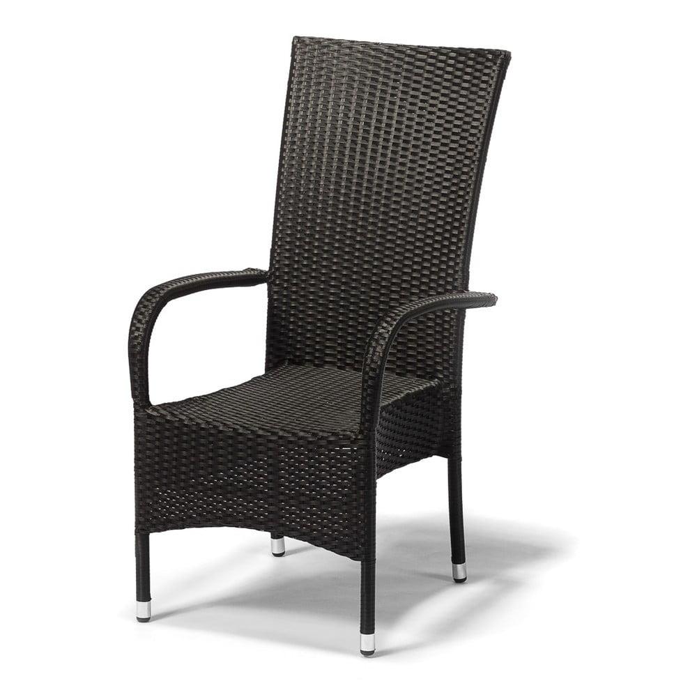 Ciemnoszare krzesło ogrodowe Timpana Frenchie, wys. 107 cm