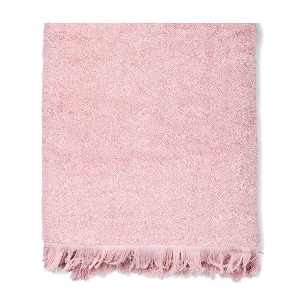 Komplet 2 różowych bawełnianych ręczników kąpielowych Casa Di Bassi Bath, 100x160 cm
