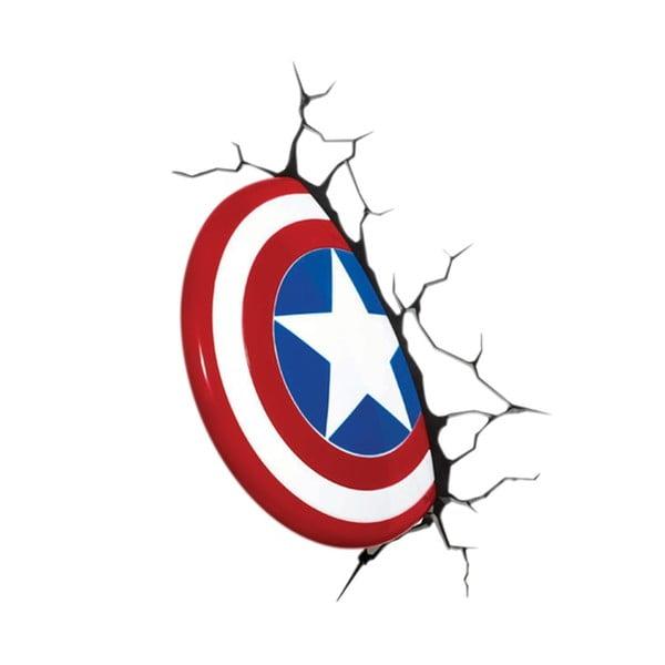 Dziecięca naścienna lampka 3D Captain America