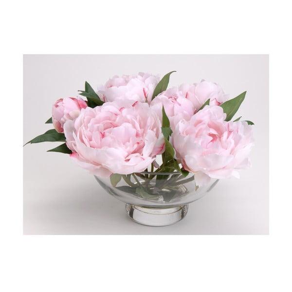 Sztuczne kwiaty w wazonie Peony Pink