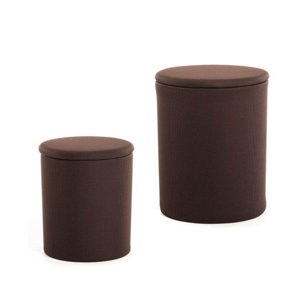 Zestaw 2 stołków The Drum Coffee Bean
